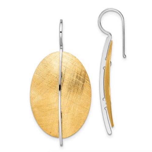 Leslie's Sterling Silver Radiant Essence Rhod-Pl Gold-Tone Dangle Earrings