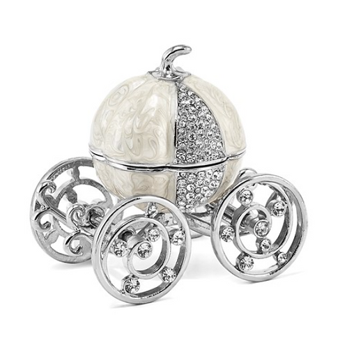 Bejeweled EVER AFTER Pumpkin Coach Trinket Box