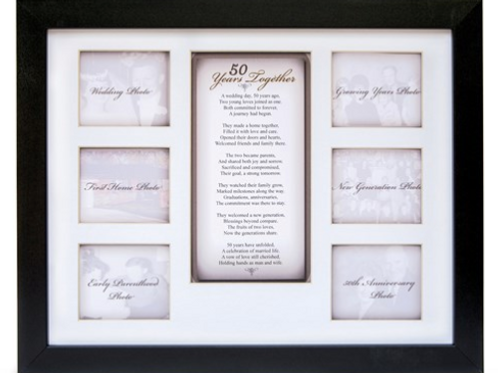 50 Years Together Anniversary 6 - 2.75 X 3.25 Photo Frame