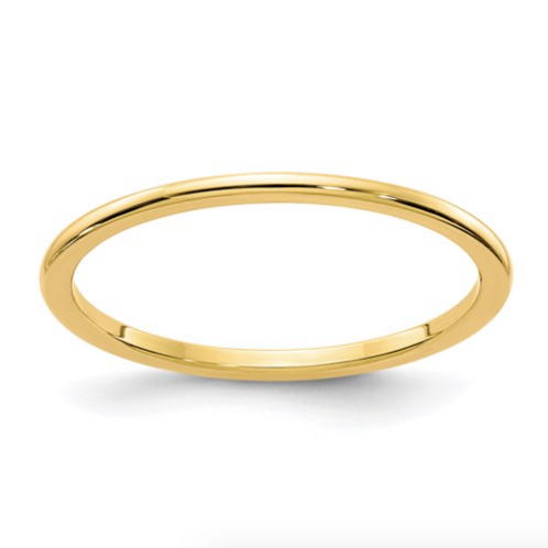 14K Gold 1.2mm Half Round Stackable Band