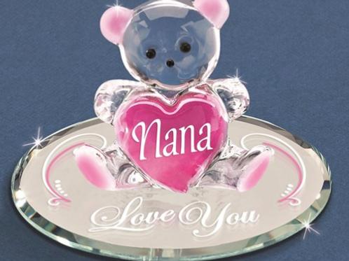 Nana - Love You Bear Glass Figurine