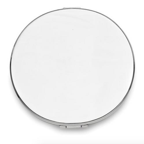 Silver-Tone Compact Mirror