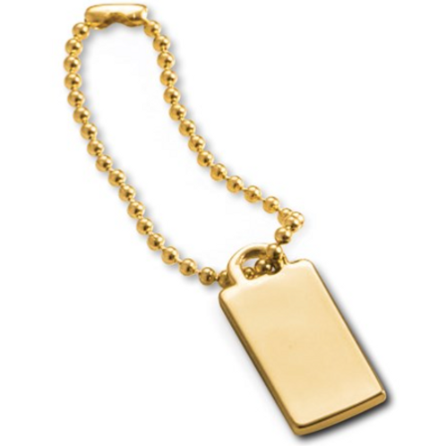 Gold-Plated Engraving ID Tag On Chain