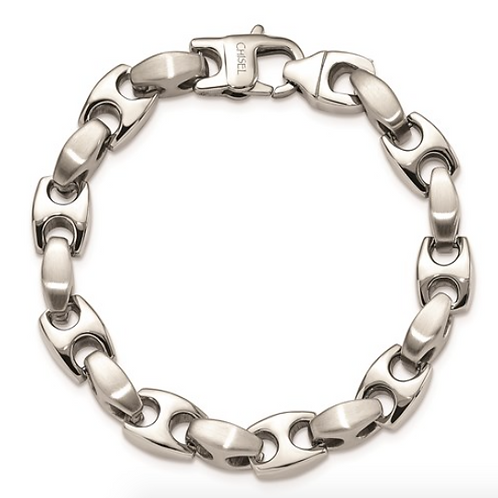 Stainless Steel Brushed and Polished 8.25in Bracelet
