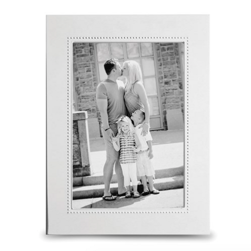 Silver-Plated Beaded Wide 4x6 Photo Frame