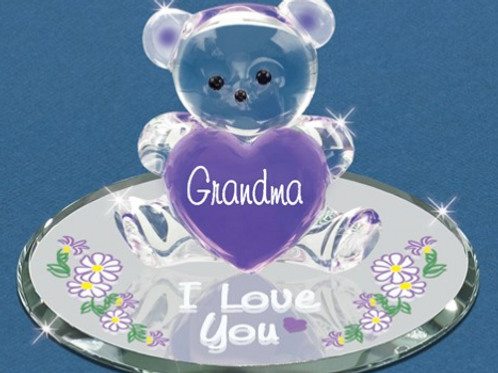 Bear Grandma, I Love You Glass Figurine