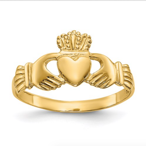 14k Polished Ladies Claddagh Ring