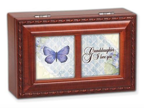 Woodgrain Petite Granddaughter Music Box