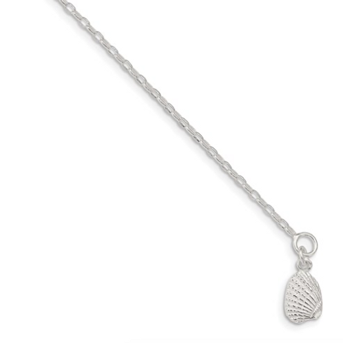 Sterling Silver Shell Anklet