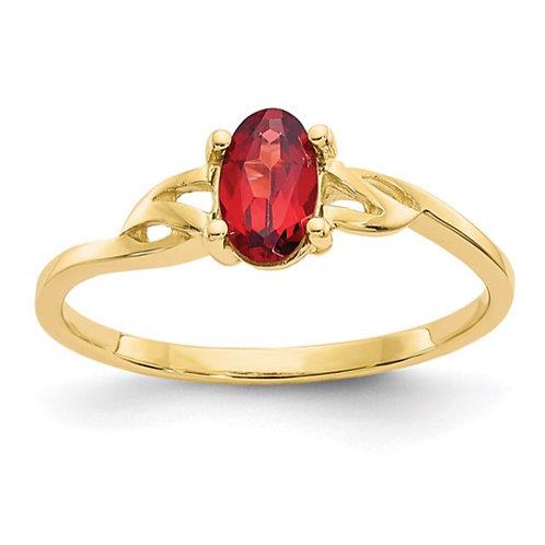 Polished Geniune Gemstone Birthstone Ring