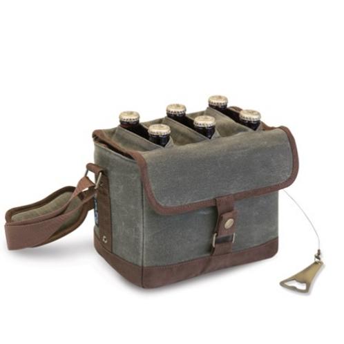 Khaki Beer Caddy Cooler With Opener