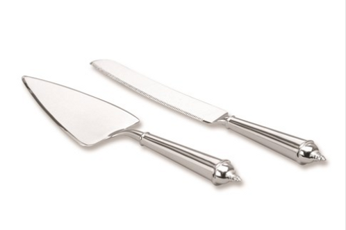 Silver-Plated Knife And Cake Server Set