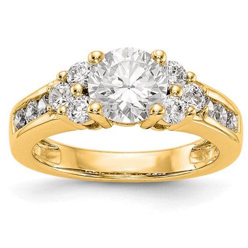 14K Lab Grown Diamond SI1/SI2, G H I, Semi-Mount Engagement Ring