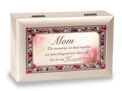 Mom Sentiment Jeweled Ivory Music Box