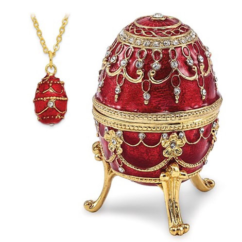 Bejeweled IMPERIAL RED (Plays Endless Love) Musical Egg
