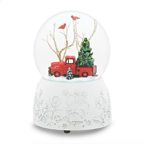 1948 Ford F-1 Truck Musical Glitterdome Snow Globe