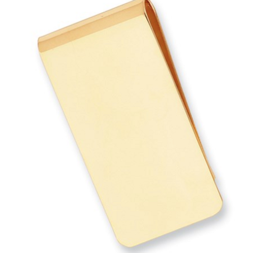 Gold-Plated Kelly Waters Polished Rectangle Money Clip