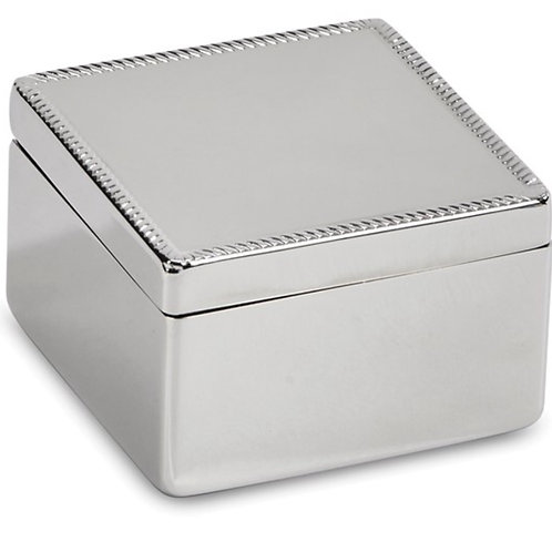 Nickel-plated Square Hinged Box
