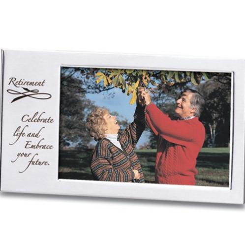 Retirement Silver-Tone Photo Frame