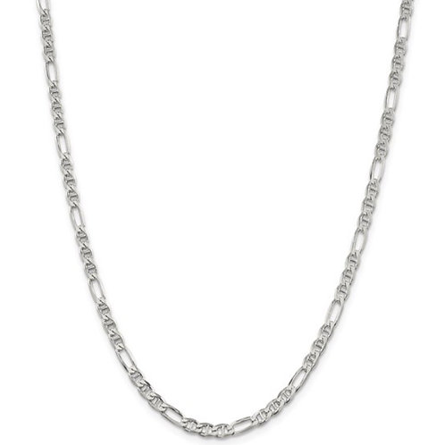 Sterling Silver 3.75mm Figaro Anchor Chain