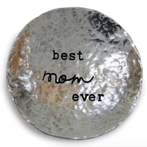 Silver-Tone Best Mom Ever Trinket Dish