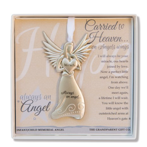 Carried To Heaven Infant Sympathy Angel Boxed With Sentiment