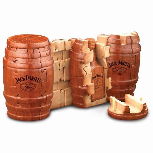 Jack Daniels Wooden Whiskey Barrel Puzzle