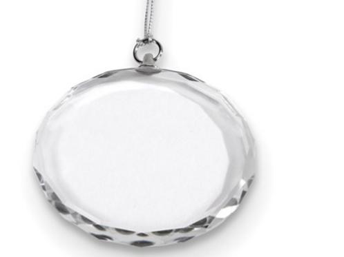 Round Optic Glass Ornament