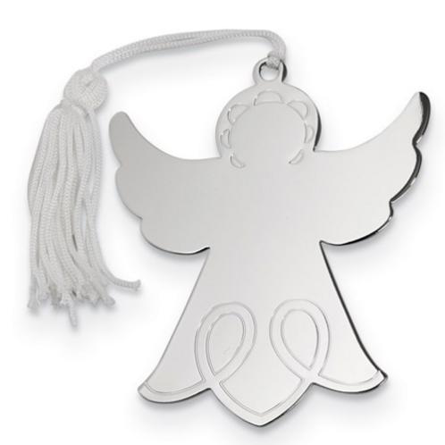 Nickel-Plated Angel Ornament