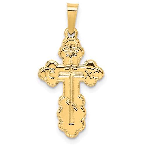 14k Eastern Orthodox Cross Charm