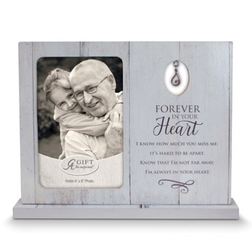 Forever In Your Heart Standing Frame With Tear Charm Boxed