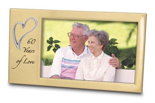 60 Years Of Love Anniversary Photo Frame