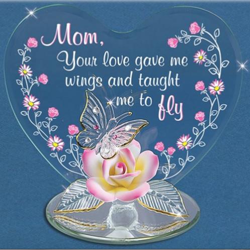 Glass Baron Mom You Gave Me Wings Figurine