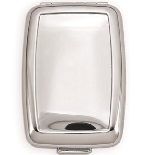 Silver-Tone Pillbox