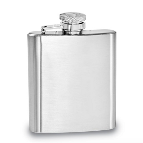 Brushed Stainless Steel 3.5 Oz Rectangle Flask