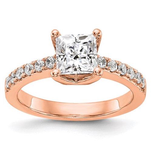 14kr True Origin Lab Grown Diamond VS/SI, D E F, Semi-Mount Engagement Rin
