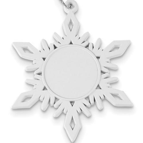 White Pewter Snowflake Ornament