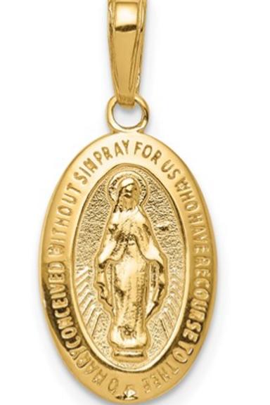 14k Miraculous Medal Pendant