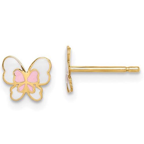14k Madi K Enamel Butterfly Post Earrings