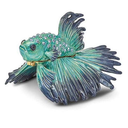 Bejeweled SY Betta Fish Trinket Box