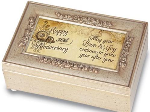 Happy 50th Anniversary Ivory Music Box