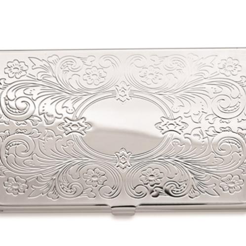 Silver-Tone Business Card Case