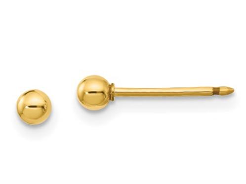 Inverness 14k 3mm Ball Post Earrings