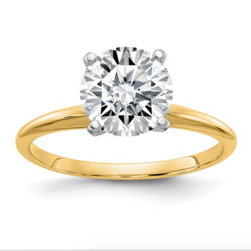 14ky .80ct. 6.0mm Moissanite Solitaire Ring