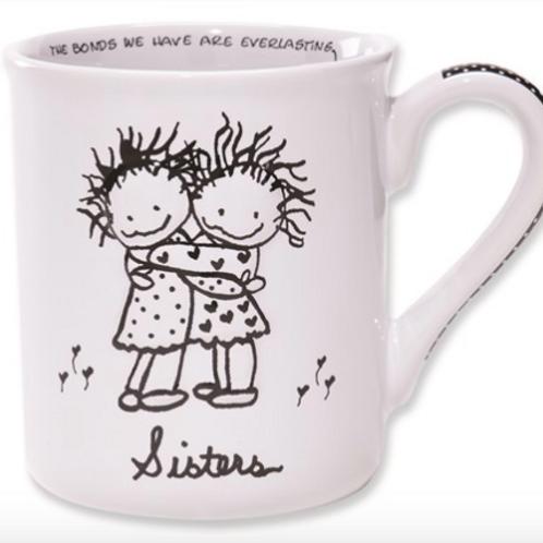 Children Of The Light Sisters Hug Mug