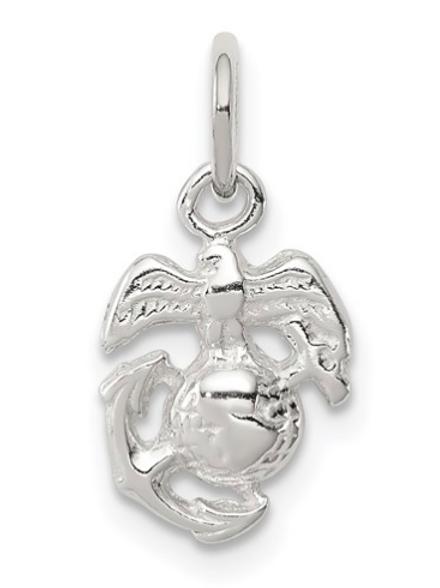 Sterling Silver Marine Corps Emblem Charm
