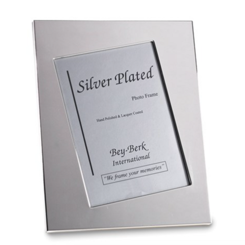 Silver-Plated 5x7 Picture Frame With Easel Back