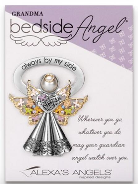 Rhodium Grandma Bedside Angel