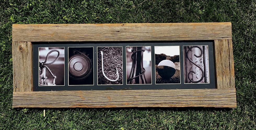 Custom Letter Photography/Framing