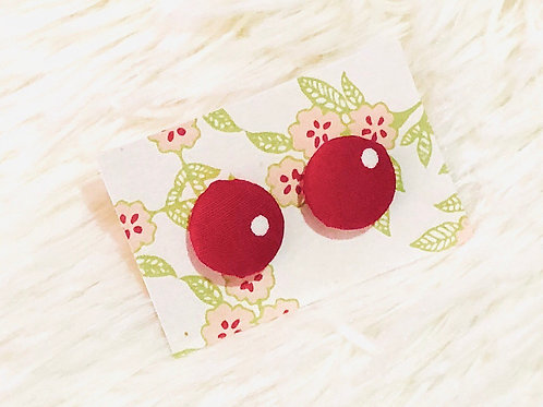 Elle Red Earrings